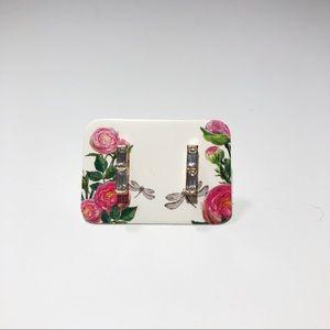 3 For $12 - Mini Rhinestone Bar Stud Earrings